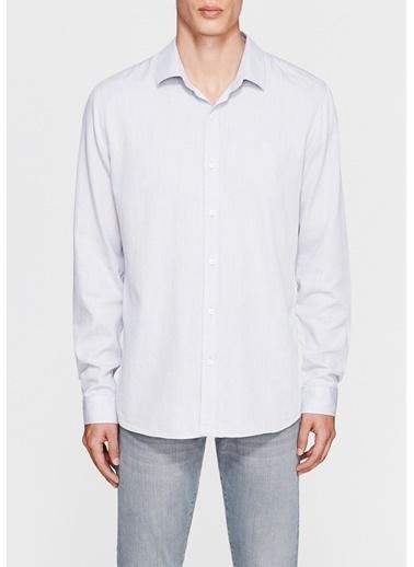Mavi Uzun Kollu Gömlek Gri